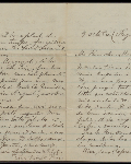 This is an image ofLetter from Louis Riel to his wife Marguerite written from prison in Regina  courtesy of PAM.